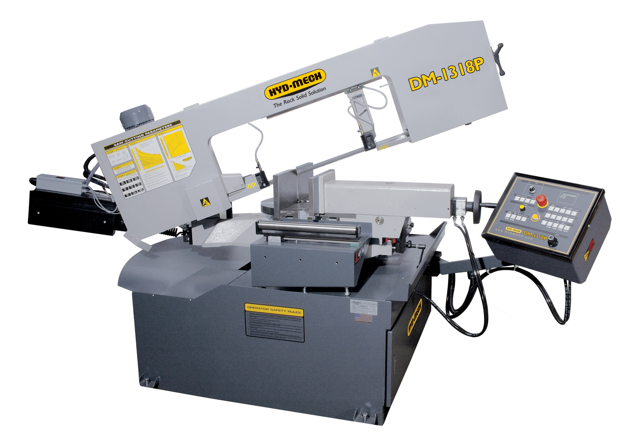 Hyd-Mech DM-1318P Semi-Automatic Double Miter Band Saw